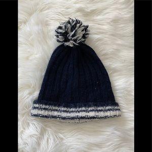 Madewell navy blue wool Pom-pom beanie